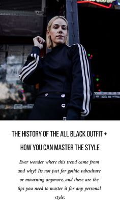 Ever wonder where this trend came from and why? Its not just for gothic subculture or mourning anymore, and these are the tips you need to master it for any personal style Fashion Hacks, All Fashion, Fashion Bloggers, Fashion Group, Fashion Tips, Style Fashion, The White Stripes, Joan Jett, All Black Outfit