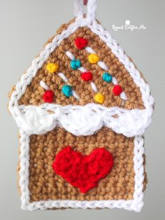 Crochet Gingerbread House Ornament - Repeat Crafter Me