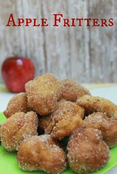 Easy Apple Fritters- I took an 8th of the batch and made banana fritters.