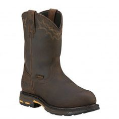 """Ariat Men's 10"""" Workhog® Pull On H2O - Round Composite Toe  - 10001200 Profile"""