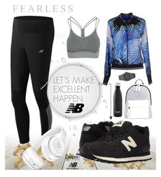 """""""Run the World in New Balance : Contest Entry"""" by vanessalugo on Polyvore featuring Roberto Cavalli, Zensah, New Balance Classics, New Balance, Poverty Flats, Beats by Dr. Dre, CC, S'well and NewBalance"""