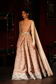 The Sabyasachi Couture Week 2014 was not but a spectacle and a lesson in elegance. Book your pastel Sabyasachi for a graceful look at the reception. Visit www.bridelan.com for more details. #Bridelan