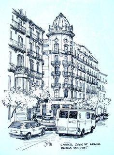 Joshemari: cruce de Mayor de Gracia con la Rambla del Prat, Barcelona
