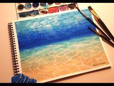 Simple Watercolor Underwater Scene Painting Tutorial - YouTube