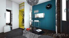 2 návrhy ako zariadiť garsónku, keď ste už v koncoch Small Apartments, Colorful Interiors, Gallery Wall, Furniture, Home Decor, Flat, Decoration Home, Bass, Small Flats