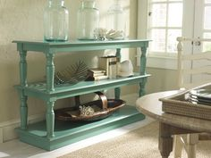 Centsational Girl » Blog Archive » Color Spotlight: DIY Painted Furniture- stacked tables