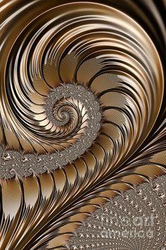 """Bronze Scrolls"" - fractal art by John Edwards"