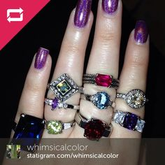 Check out this fan's Diamond Candles rings!