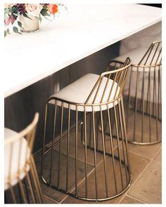 北歐復古金色線條餐椅休閒椅 設計椅 休閒椅 吧檯椅 矮凳 | cohiti家.品物
