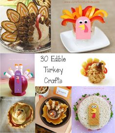 Cute Food For Kids?: 30 Edible Turkey Craft Ideas for Tanksgiving
