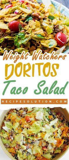 """Doritos Taco Salad MEALS """"No one knows Weight loss meals like we do"""" - With these recipes it's now easier """"and healthy tastier"""" than ever before to stay on track with your HEALTHY goals. Doritos Taco Salad MEALS No one knows Weight l Dorito Taco Salad Recipe, Taco Salad Doritos, Taco Salad Recipes, Ww Recipes, Cooking Recipes, Healthy Recipes, Healthy Foods, Skinny Recipes, Salad"""