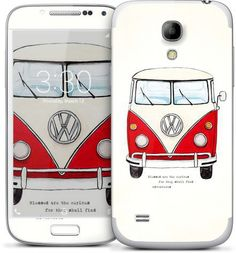 Red VW Bus Samsung Cases & Skins by Made in Brockton Village (Malika Pannek) | Nuvango