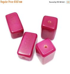 1 Tagua Klotz, pink, 20mm, Tagua Perle, Tagua, cube beads, square beads, tagua beads, vegetable ivory, pink beads, pendant, natural beads