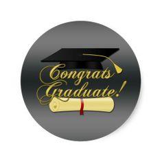 Congrats Graduate #Diploma and #Graduation hat grey sticker by #PLdesign #GraduationGift #Sticker  #CongratsGraduate
