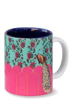 Kuheli Peacock Plume Mug by Bohemian Color Fantasy on @HauteLook