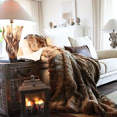 Stylabl  Fur for warmth great for Northern beach cottage