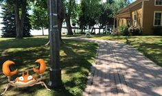 Earlier today, a #Krabby was spotted outside of Guy House. As Lakeview Park's year round residents, it's been fascinating seeing the park filled with #pokemontrainers! Gotta catch 'em all!  #Oshawa #oshawamuseum #ouroshawa #pokemongo #catchemall #lakeviewpark
