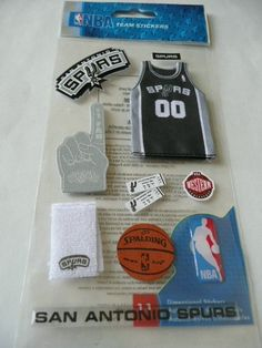 TEXAS!   Official licensed Nba Team Stickers  SAN ANTONIO SPURS by ExpressionsofFaith, $2.49