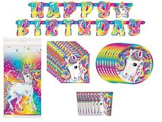 Lisa Frank Majesty Birthday Party Supplies Bundle Pack for 8; Banner, Table Cover, Plates, Napkins, & Cups - https://www.partysuppliesanddecorations.com/lisa-frank-majesty-birthday-party-supplies-bundle-pack-for-8-banner-table-cover-plates-napkins-cups-2.html