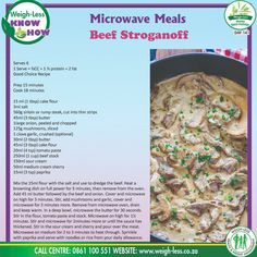 Pasta Recipes, Beef Recipes, Healthy Recipes, Recipies, Rump Steak, Microwave Recipes, Beef Stroganoff, Cake Flour, Dessert For Dinner