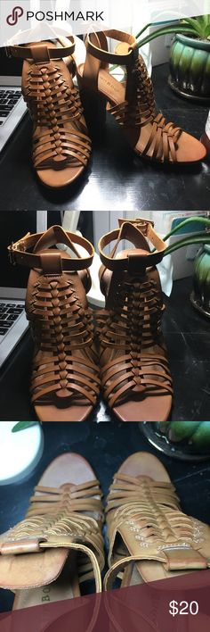 Never been worn light brown heels Super cute light brown heels BAMBOO Shoes Heels