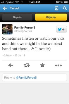 Family Force 5 | We love it, too!