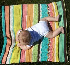 NobleKnits.com - SKnitsB Water Colors Baby Blanket Knitting Pattern, $6.95 (http://www.nobleknits.com/sknitsb-water-colors-baby-blanket-knitting-pattern/)