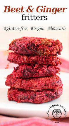 Nóri's ingenious cooking: Beet & ginger fritters (gluten-free, egg-free, vegan recipe)
