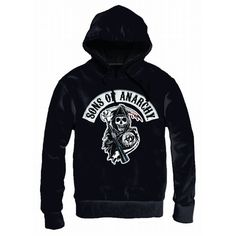 Sweat à Capuche Sons Of Anarchy Death Rapper Patch