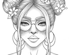 Adult coloring page fantasy girl portrait and clothes colouring sheet floral pdf printable anti-stress relaxing zentangle line art People Coloring Pages, Detailed Coloring Pages, Cute Coloring Pages, Coloring Pages For Girls, Printable Coloring Pages, Coloring Sheets, Coloring Books, Free Coloring, Colouring