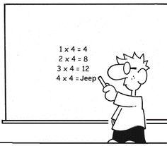 Τριτάκια εξυπνάκια!: γελοιογραφίες μαθηματικών και Η/Υ Jeep 4x4, Peanuts Comics, Christmas Crafts, Humor, Funny, Blog, Fictional Characters, Maths, Twitter