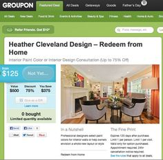 starting June 7th, we will have two GREAT offerson groupon-go to  http://www.groupon.com/deals/heather-cleveland-design