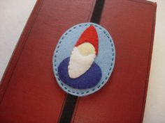 Waldorf style gnome elastic bookmark by EarthyMamaGoods  - stocking stuffer - handmade gift - use coupon code PIN10 for a 10% discount on all purchases over $25