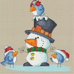 (1) Gallery.ru / снеговик - мои схемы (бесплатные ) - elisli74