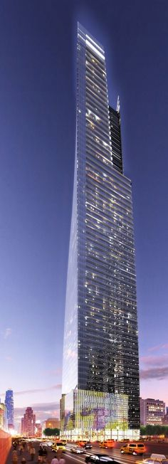 3 Hudson Boulevard, former The Girasole Tower, Hudson Yard Development, 555 West 34th Street, 11th Avenue - West 34th Street, New York City by FXFOWLE Architects :: 72 floors, height 324m :: proposed, AFC