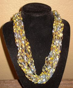 neckarfs trellis ladder ribbon railroad yarn necklace gorgeous
