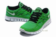 Nike Free Run 2 Mens Running Shoe Lucky Green Black White