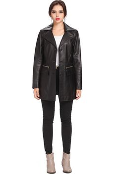 "BGSD Signature Women's ""Caroline"" Lambskin Leather Walking Coat. Check out this great style for $229.99 on Luxury Lane. Click on the image above to get a coupon code for 10% off on your next order."
