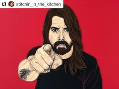 Off to the handmade fair today so here's Dave Grohl to keep you entertained for now. Have a rockin' day! #Repost @stitchin_in_the_kitchen  FINISHED PIECE. DAVE GROHL SEWN FROM FABRIC SIZE A3 BOX FRAMED UNDER GLASS. #davegrohl #stitchin_in_the_kitchen #davegrohlportrait #foofighters #nirvana #rockstar #portrait #art #textiles #textileportrait #applique #appliqueportrait #sewing #rockmusic #sewnportrait #handmadefair #creativityfound #mrxstitch via The Mr X Stitch official Instagram  Share…