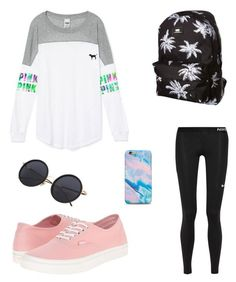 7th grade by kaileyknaak on Polyvore featuring polyvore fashion style NIKE Vans Victoria's Secret clothing