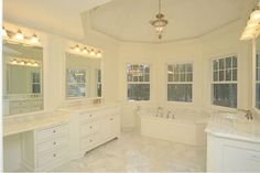 TUB marble master bath - Google Search