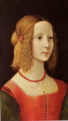 Domenico Ghirlandaio ~ Portrait of a Girl, c.1490