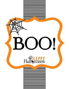 "Free Printable: Happy Halloween ""BOO"" Signs and Enclosure : Anders Ruff Custom Designs :"