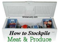 How To Stockpile Meat & Produce via MrsJanuary.com #stockpile #savemoney