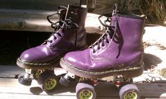 Doc Martens modified to be roller skates. We can mount any boot or shoe with a solid sole to your plates!