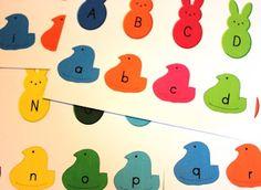 Peeps Themed Alphabet Activity (printable)