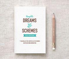 Reciclado Set de regalo diario & lápiz, gracioso - sueños tangibles y esquemas de 2014 Edition, único, eligen tu Color