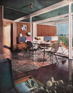 1954 Dining Area (by American Vintage Home)#Repin By:Pinterest++ for iPad#