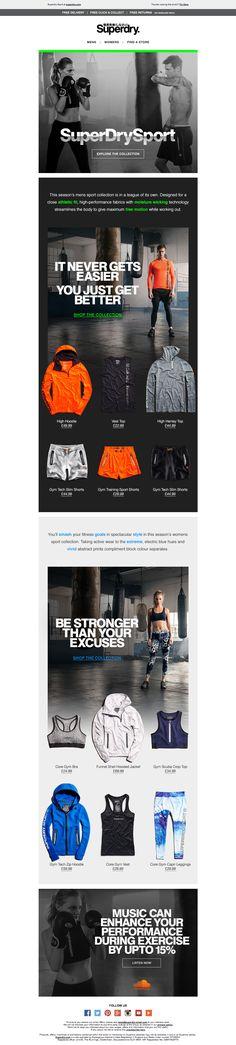Superdry Sport Dual Gender Email / Newsletter Design