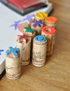 37 Insanely Creative Things To Do With Popped Corks @ http://www.thisheartofmineblog.com/2012/09/10/perfect-gift-with-design-mom-cork-stamps/